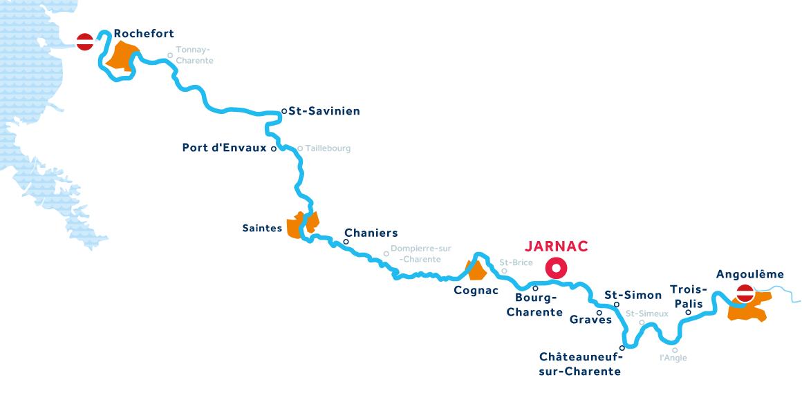 Charente region map