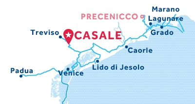 Casale base location map