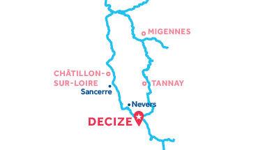 Mapa de ubicación de la base de Decize
