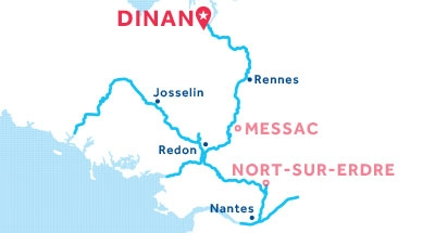 Dinan base location map