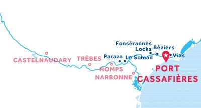 Port Cassafières base location map