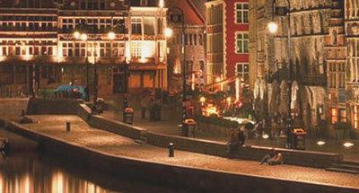 Belgium city canal