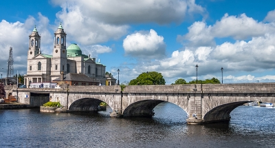 Historic bridge across the river in Athlone