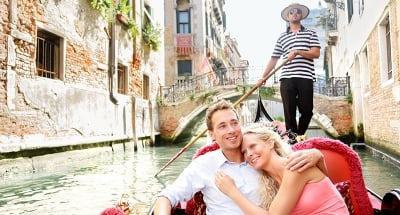 Enjoy a gondola ride in Venice