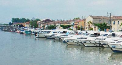 Le Boat marina in the Carmargue