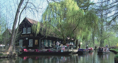 Canal side restaurant