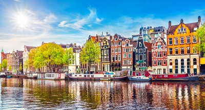 Iconic Amsterdam town houses