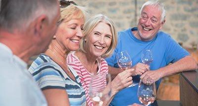 Group wine tasting