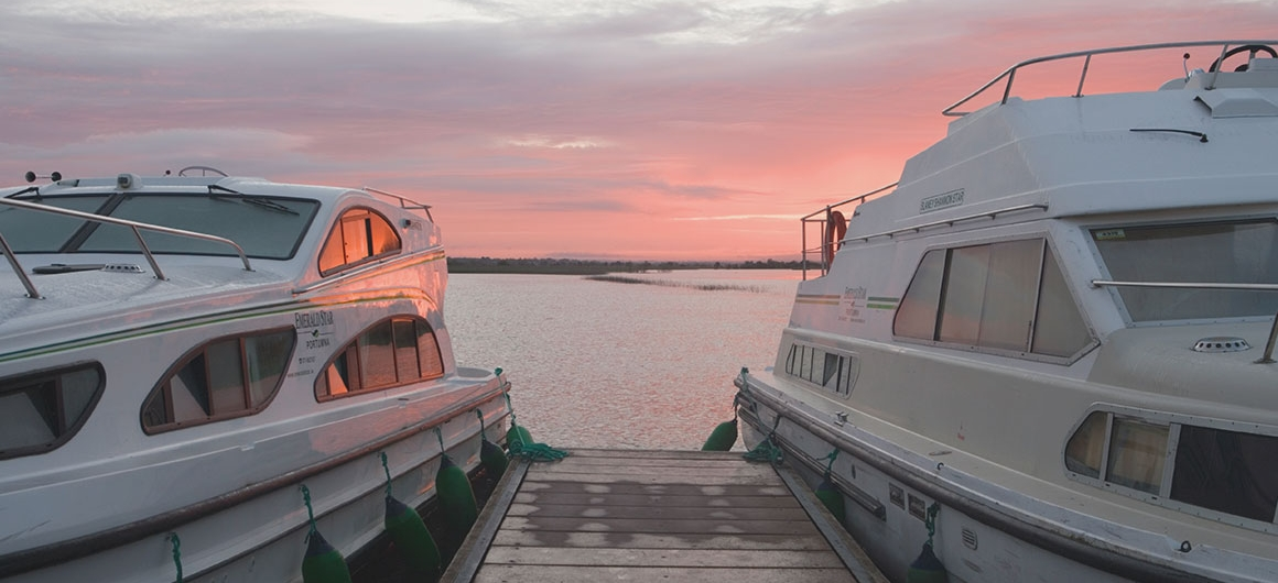 Emerald Star boats near Clonmacnoise, Ireland
