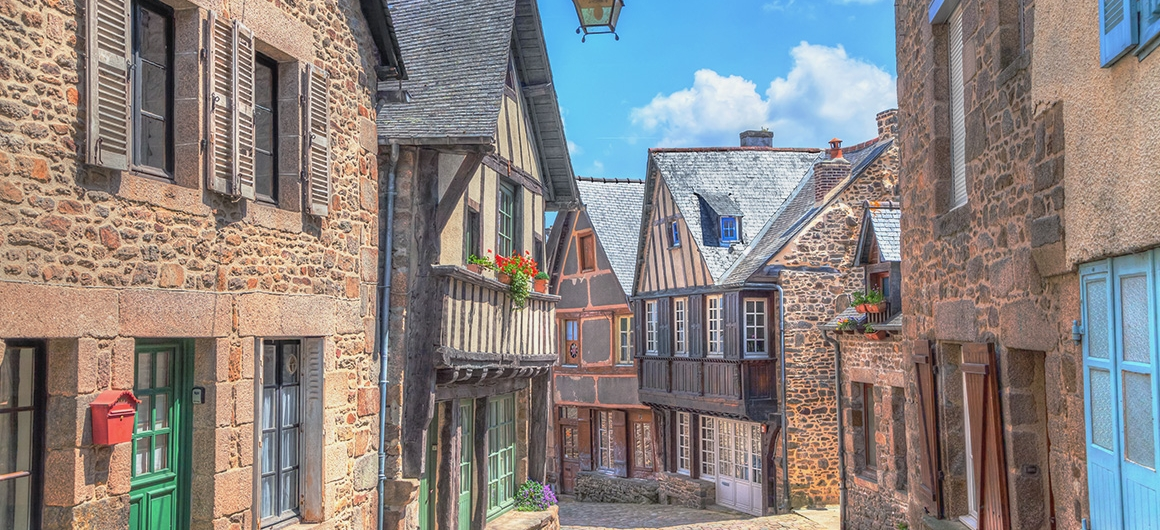 Streets of Dinan, Brittany