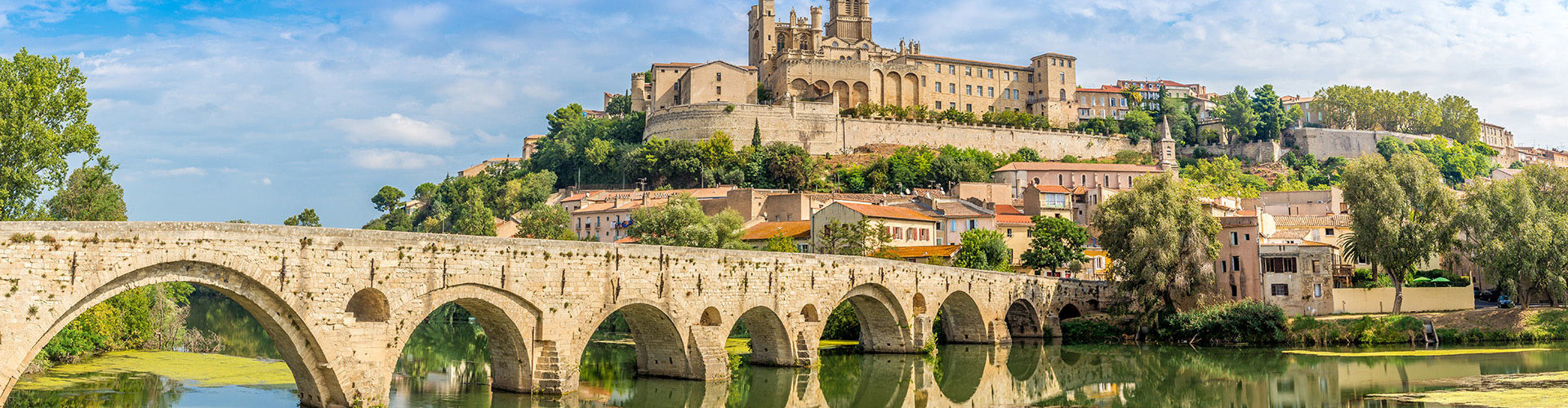 Beziers am Canal du Midi